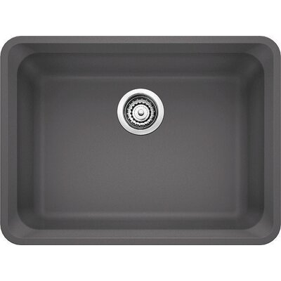 Vision 24 x 18 Single Kitchen Sink Finish: Cinder