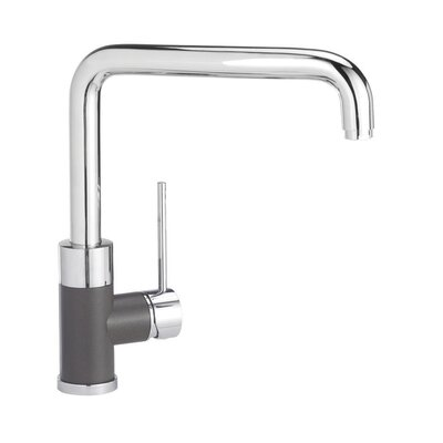 Purus Single Handle Deck Mounted Kitchen Faucet Finish: Cafe Brown