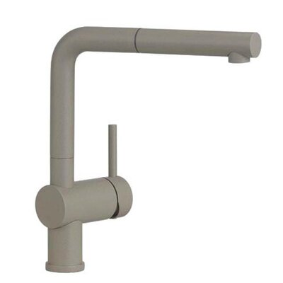 Linus Single Handle Deck Mounted Kitchen Faucet with Pull Out Spray Finish: Truffle