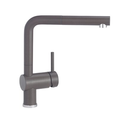 Linus Single Handle Deck Mounted Kitchen Faucet with Pull Out Spray Finish: Cafe Brown