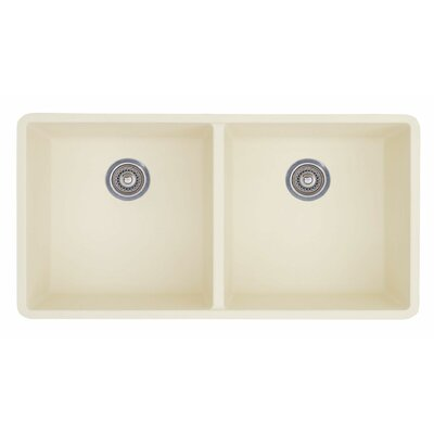 Precis 29.75 x 18.13 Equal Double Bowl Kitchen Sink Finish: Biscuit