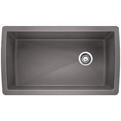 Diamond 33.5 x 18.5 Undermount Kitchen Sink Finish: Metallic Gray