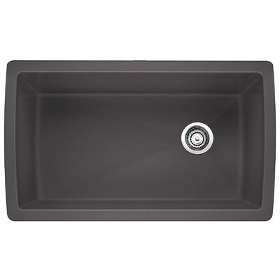 Diamond 33.5 x 18.5 Undermount Kitchen Sink Finish: Cinder