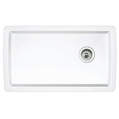 Diamond 33.5 x 18.5 Undermount Kitchen Sink Finish: White