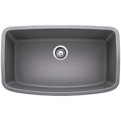 Valea 32 x 19 Super Single Undermount Kitchen Sink Finish: Metallic Gray