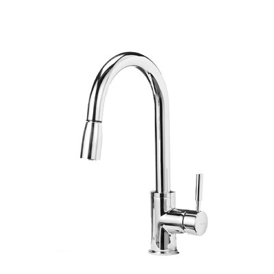Sonoma Single Handle Pull-Down Spray Kitchen Faucet with Toggle Spray Function Finish: Polished Chrome