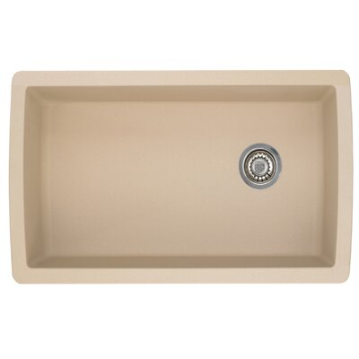 Diamond 33.5 x 18.5 Undermount Kitchen Sink Finish: Biscotti
