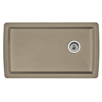 Diamond 33.5 x 18.5 Undermount Kitchen Sink Finish: Truffle