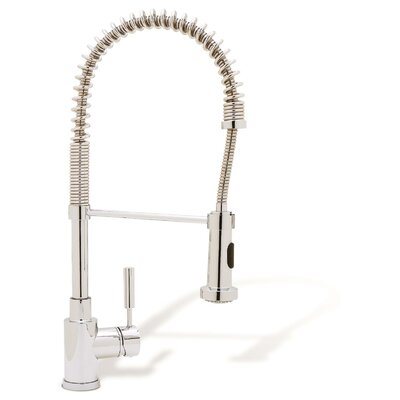 Meridian Pull Down Single Handle Kitchen Faucet Finish: Polished Chrome
