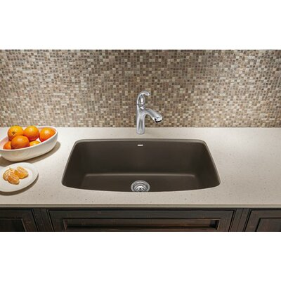 Valea 32 x 19 Super Single Undermount Kitchen Sink Finish: Anthracite