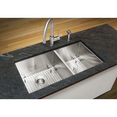 Quatrus 33 x 18 Undermount Kitchen Sink