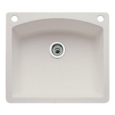 Diamond 25 x 22 Single-Basin Granite Drop/Undermount Residential Kitchen Sink Finish: Biscuit