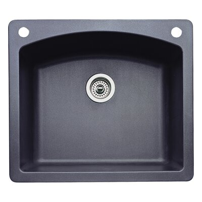 Diamond 25 x 22 Single-Basin Granite Drop/Undermount Residential Kitchen Sink Finish: Anthracite