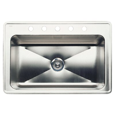 Magnum 33 x 22 Single-Basin Drop Residential Kitchen Sink Finish: Stainless Steel, Faucet Drillings: 5 hole
