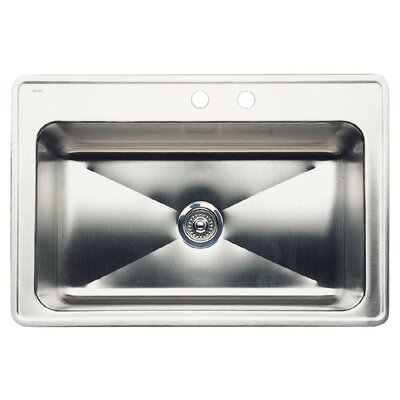 Magnum 33 x 22 Single-Basin Drop Residential Kitchen Sink Finish: Stainless Steel, Faucet Drillings: 2 hole