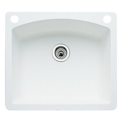 Diamond 25 x 22 Single-Basin Granite Drop/Undermount Residential Kitchen Sink Finish: White