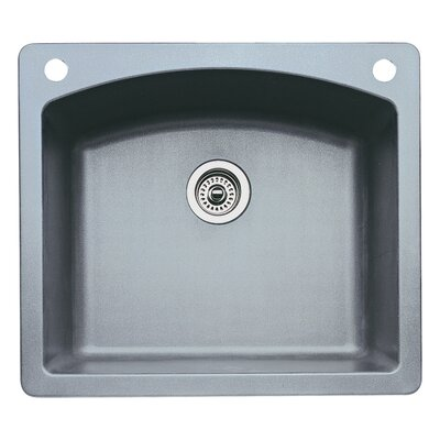 Diamond 25 x 22 Single-Basin Granite Drop/Undermount Residential Kitchen Sink Finish: Metallic Gray