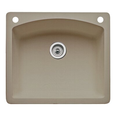 Diamond 25 x 22 Single-Basin Granite Drop/Undermount Residential Kitchen Sink Finish: Truffle