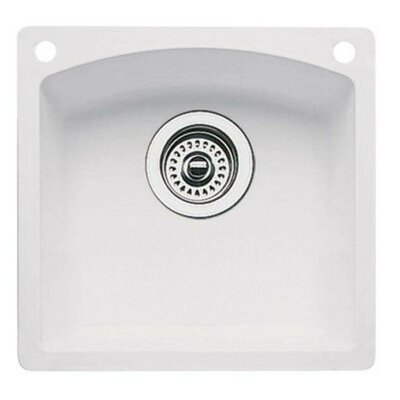 Diamond 15 x 15 Bar Kitchen Sink Finish: White