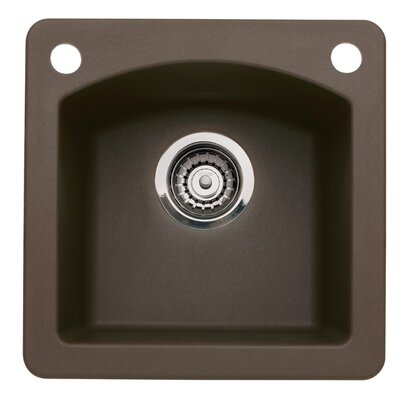 Diamond 15 x 15 Bar Kitchen Sink Finish: Cafe Brown