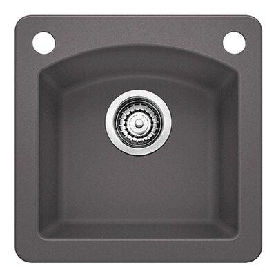 Diamond 15 x 15 Bar Kitchen Sink Finish: Cinder