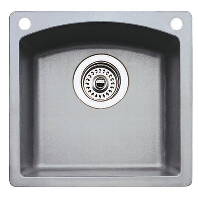 Diamond 15 x 15 Bar Kitchen Sink Finish: Metallic Gray