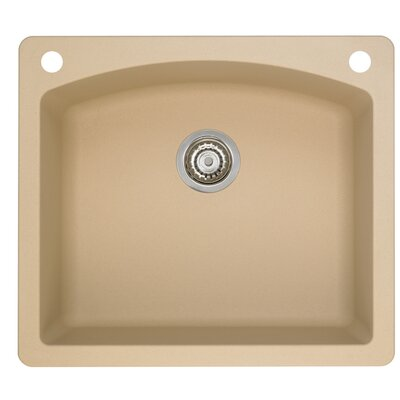 Diamond 25 x 22 Single-Basin Granite Drop/Undermount Residential Kitchen Sink Finish: Biscotti