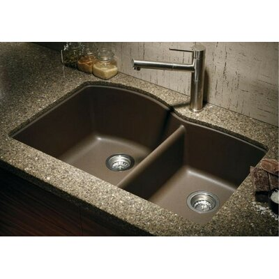 Diamond 32 x 19 Bowl Undermount Kitchen Sink Finish: Cafe Brown