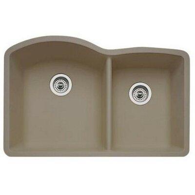 Diamond 32 x 19 Bowl Undermount Kitchen Sink Finish: Truffle
