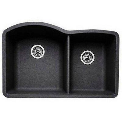 Diamond 32 x 19 Bowl Undermount Kitchen Sink Finish: Anthracite