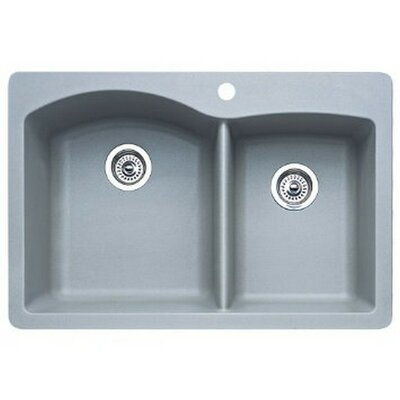 Diamond 33 x 22 Bowl Drop-In Kitchen Sink Finish: Metallic Gray