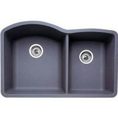 Diamond 32 x 19 Bowl Undermount Kitchen Sink Finish: Metallic Gray