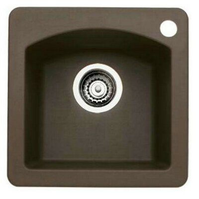 Diamond 15 x 15 Drop-In Kitchen Sink Finish: Cafe Brown