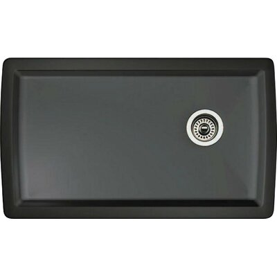 Diamond 33.5 x 18.5 Undermount Kitchen Sink Finish: Anthracite