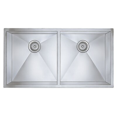 Precision 37 x 18 Large Equal Double Bowl Kitchen Sink