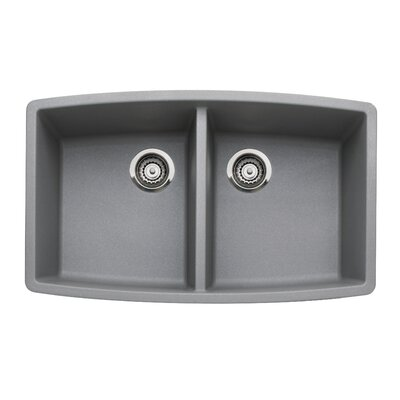 Performa 33 x 20 Double Bowl Kitchen Sink Finish: Metallic Gray