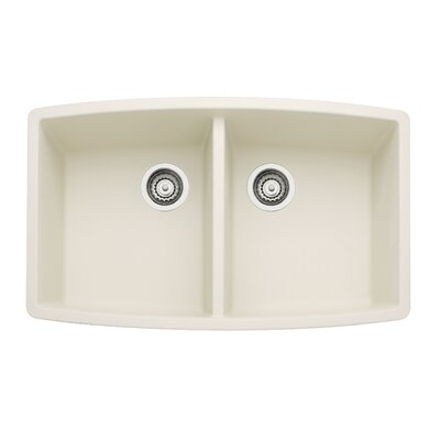 Performa 33 x 20 Double Bowl Kitchen Sink Finish: Biscuit