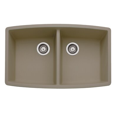 Performa 33 x 20 Double Bowl Kitchen Sink Finish: Truffle