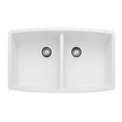 Performa 33 x 20 Double Bowl Kitchen Sink Finish: White