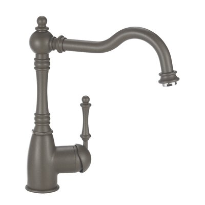 Grace Single Handle Deck Mounted Standard Kitchen Faucet with Lever Handle Finish: Satin Nickel, Side Spray: With Side Spray