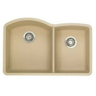 Diamond 32 x 19 Bowl Undermount Kitchen Sink Finish: Biscotti