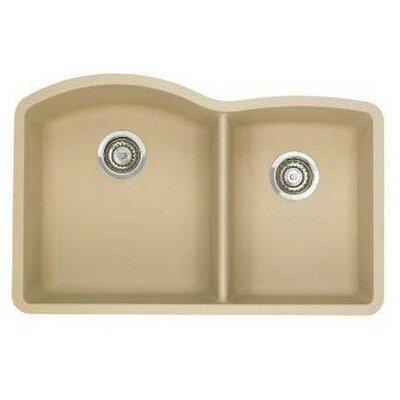 Diamond 32 x 19 Bowl Undermount Kitchen Sink Finish: Biscotti