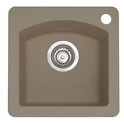 Diamond 15 x 15 Drop-In Kitchen Sink Finish: Truffle