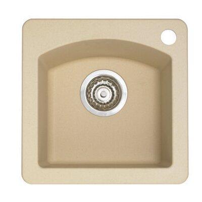 Diamond 15 x 15 Drop-In Kitchen Sink Finish: Biscotti