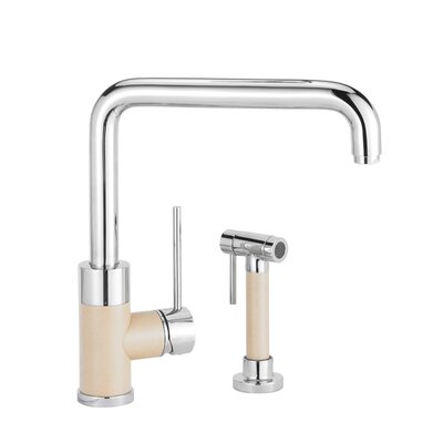 Purus Single Handle Deck Mounted Standard Kitchen Faucet Finish: Polished Chrome, Side Spray Included: No