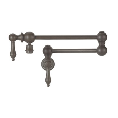 Grace Two Handle Wall Mounted Pot Filler Faucet Finish: Cafe Brown