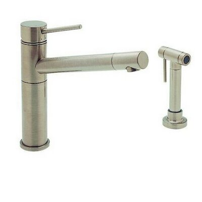Alta Single Handle Deck Mounted Kitchen Faucet  with Side Spray Finish: Satin Nickel