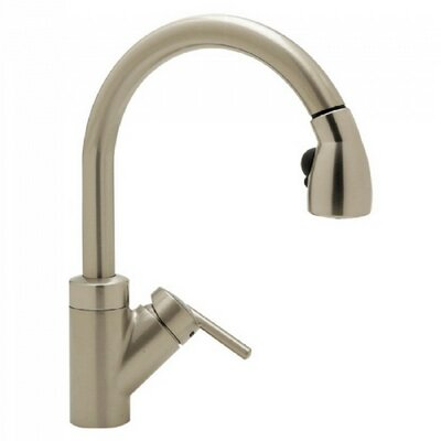 Rados Single Handle Deck Mounted  Kitchen Faucet with Pull Out Spray Finish: Polished Chrome with Black Pull-down Spray