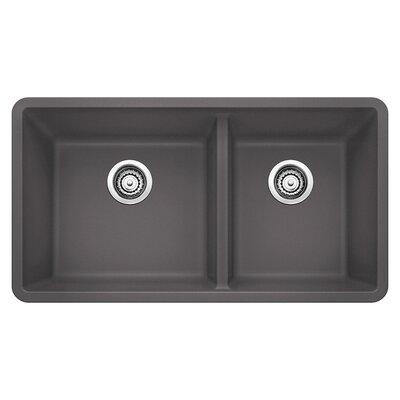 Precis 33 x 18 Undermount Kitchen Sink Finish: Cinder