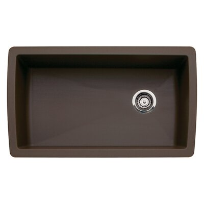 Diamond 33.5 x 18.5 Undermount Kitchen Sink Finish: Cafe Brown